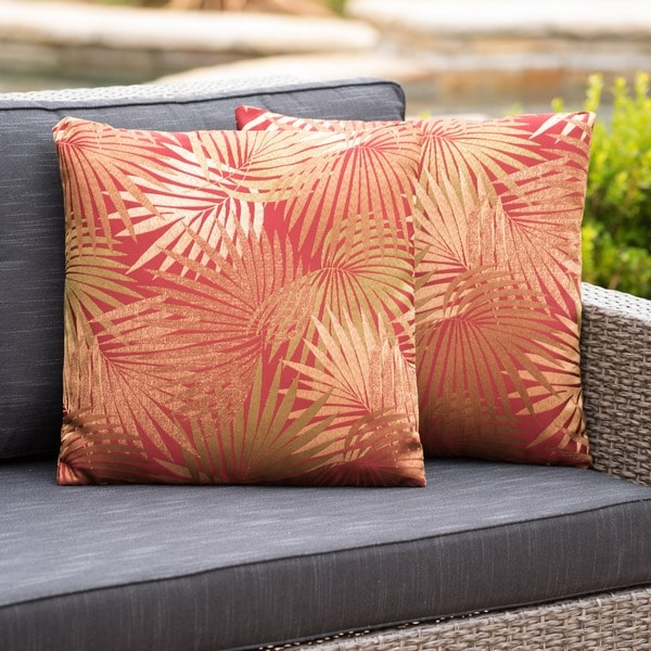 Coronado Outdoor Tropical 18-inch Square Pillow (Set of 2) by Christopher Knight Home. Opens flyout.