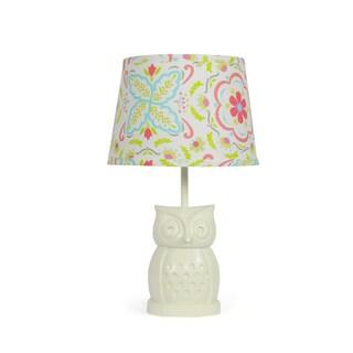 The Peanut Shell Owl Boho Bloom Lamp