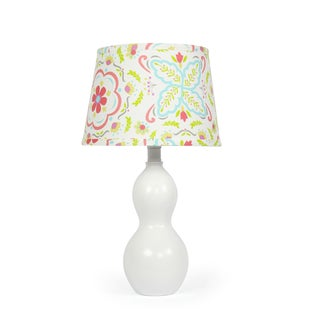 The Peanut Shell White Classic Floral Lamp