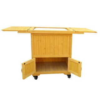 Wooden Cooler-Warmer Cart