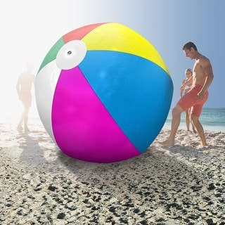 GoFloats Muticolored 6-foot Giant Inflatable Beach Ball