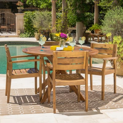 Stamford Outdoor 5-piece Wood Dining Set by Christopher Knight Home