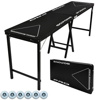Link to GoPong PRO Black 8-foot 36-inch Tall Premium Heavy-duty Beer Pong Table Similar Items in Table Games