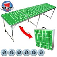 GoPong 8-foot Portable Tailgate Pong Table with 6 Pong Balls