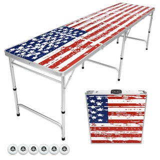 GoPong American Flag Edition 8-foot Beer Pong/Tailgate Table|https://ak1.ostkcdn.com/images/products/16079988/P22464971.jpg?_ostk_perf_=percv&impolicy=medium