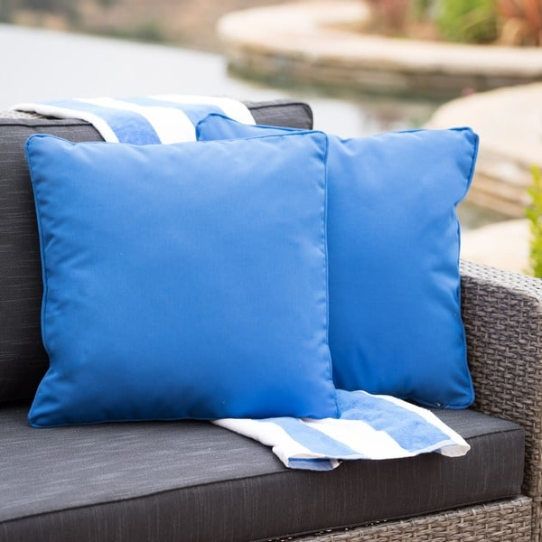 Coronado Outdoor 18-inch Square Pillow (Set of 2) by Christopher Knight Home. Opens flyout.