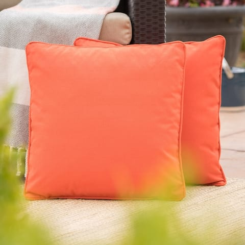 Coronado Outdoor 18-inch Square Pillow (Set of 2) by Christopher Knight Home