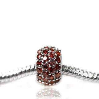 De Buman Sterling Silver Birthstone Charm Bead