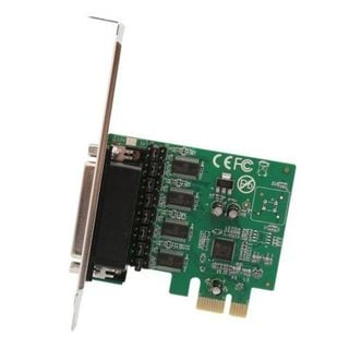 IOCrest 4-port DB9 Serial RS-232 PCI-Express x1 Card with Fan-Out Cable Asix99100 Chipset