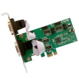Syba PCI-Express 4-Port DB9 Serial RS-232 Card Asix99100 Chipset