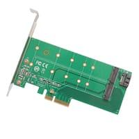 IOCrest 1 Slot M.2 M-Key and B-Key or SATA III PCI-Express 2.0 x4 Adapter Card