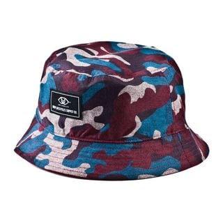 Deep Lifestyles Wine Unisex Women Men Camo Pattern Reversible Bucket Hat