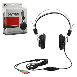 TTX TECH Black Headset Stereo Headset Adjustable Boom Mic For PC