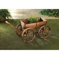 Larkin Wooden Wagon Plant Holder
