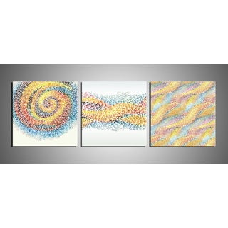 'Flow' 3-piece Gallery-wrapped Canvas Wall Print