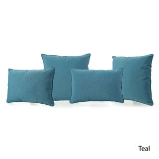 Coronado Outdoor Pillow (Set of 4) by Christopher Knight Home (Teal)