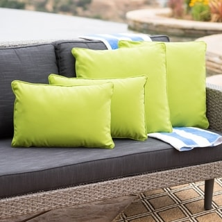 Link to Coronado Outdoor Pillow (Set of 4) by Christopher Knight Home Similar Items in Decorative Accessories