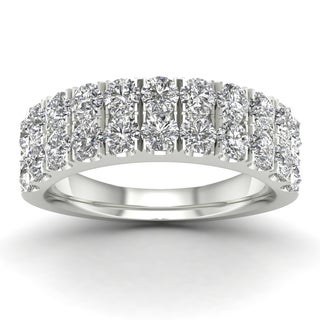 De Couer 1 1/2ct TDW Diamond Wedding Band - White