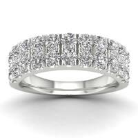 De Couer 1 1/2ct TDW Diamond Wedding Band - White