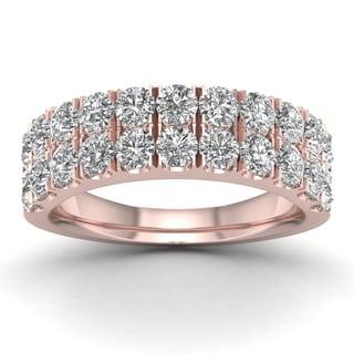 De Couer 1 1/2ct TDW Diamond Wedding Band - Pink