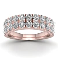 De Couer 1 1/2ct TDW Diamond Wedding Band - Pink