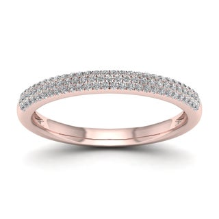 De Couer 1/4ct TDW Diamond Wedding Band