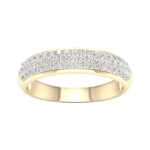 De Couer 1/2ct TDW Diamond Wedding Band - Yellow