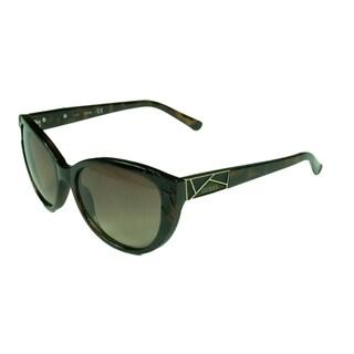Guess Fashion Women's GF0297 52F Dark Havana w/ Gradient Brown Lens Sunglasses