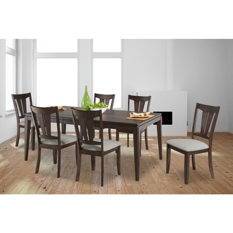 Bernards Cameron Brown Dining Table with Oak Finish