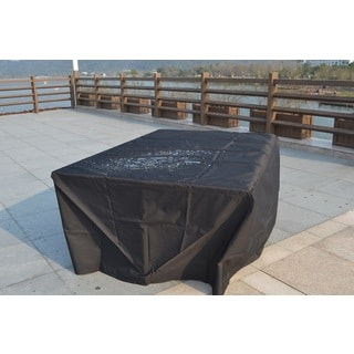 Direct Wicker 91x91x28 Inch Large Waterproof Outdoor Rain Cover For 5 Seat Rattan Cube Garden Furniture