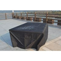 Large 91 x 91 x 28-inch Rain Cover for 6-piece Outdoor Sofa Rattan Set by Direct Wicker