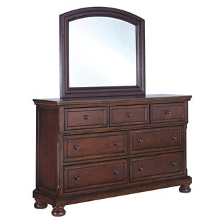 Signature Design by Ashley Porter Rustic Brown Bedroom Mirror