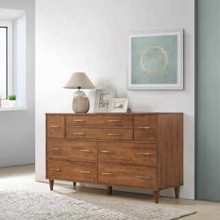 Ana Oak 8 Drawer Dresser