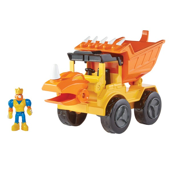 Educational Insights Dino Construction Company— Rocko the Styracosaurus  Dump Truck Set