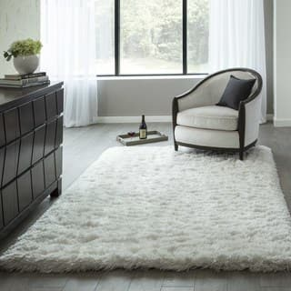 Momeni Snow Shag White Hand Tufted Rug 7 6