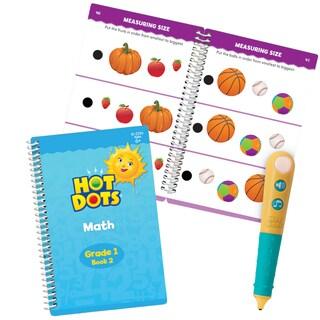 Educational Insights Hot Dots Jr. Let's Master Grade 1 Math Set with Hot Dots Pen