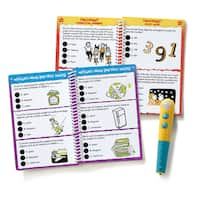Educational Insights Hot Dots Jr. Let's Master Grade 3 Math Set with Hot Dots Pen