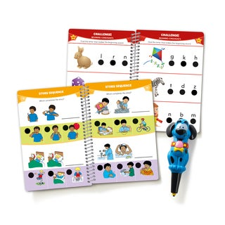 Educational Insights Hot Dots Jr. Let's Master Pre-K Reading Set with Ace Pen