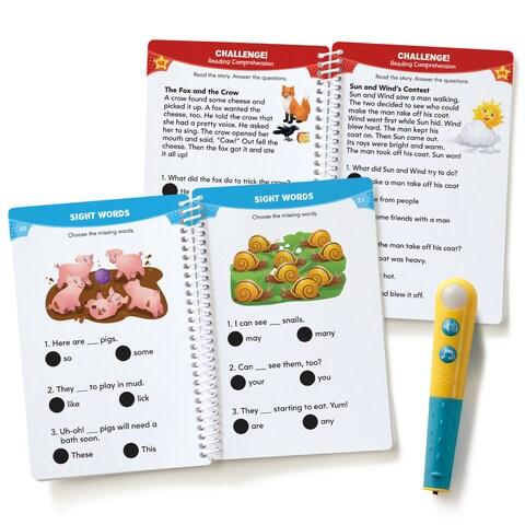 Educational Insights Hot Dots Jr. Let's Master Grade 1 Reading Set with Hot Dots Pen