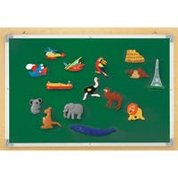Educational Insights 3-IN-1 Flannel, Magnetic, Wipe-Off Board