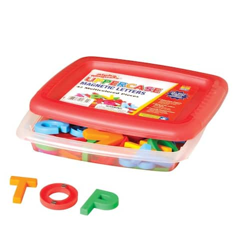 Educational Insights AlphaMagnets - Multicolored Uppercase, 42 pieces