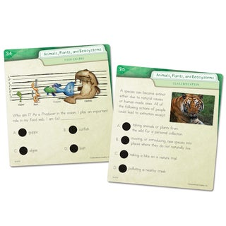 Educational Insights Hot Dots Science Card Set - Animals, Plants, and Ecosystems