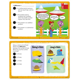 Educational Insights Hot Dots Laugh It Up! Math Vocabulary Cards - Grades 1-3
