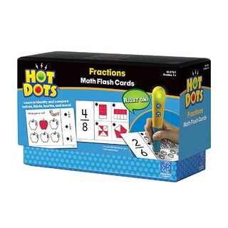Educational Insights Hot Dots Math Flash Cards - Fractions