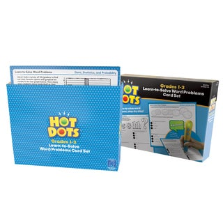 Educational Insights Hot Dots Learn-to-Solve Word Problems Card Set - Grades 1-3