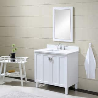 Phoenix White Artificial Marble Top 36 inch Single Sink Bathroom Vanity in White Finish|https://ak1.ostkcdn.com/images/products/16096002/P22478913.jpg?impolicy=medium