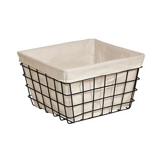 Cheung's Lined Metal Wire Rectangular Storage