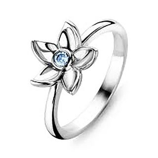 Kipling Childrens Sterling Silver Flower Cz Ring