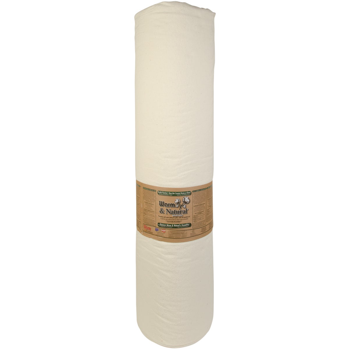 """Warm & Natural Cotton Batting By-The-Yard-King Size 124""""X..."""