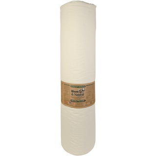 "Warm & Natural Cotton Batting By-The-Yard-King Size 124""X30yd FOB: MI"